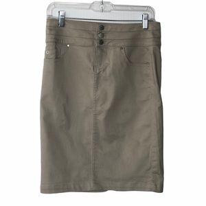 NEW!!!  D. Jeans high waisted khaki skirt